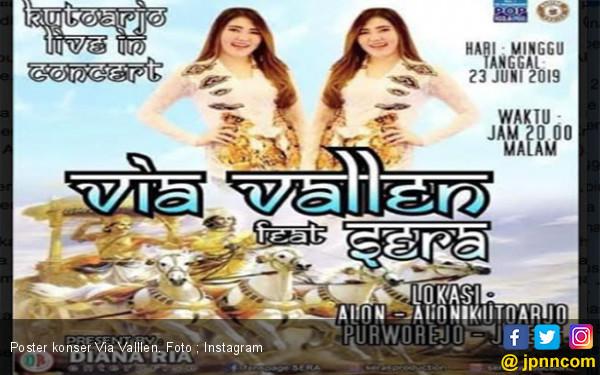 Poster Konser Via Vallen Disomasi, Ini Penyebabnya - JPNN.com