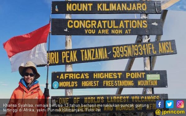 Khansa Syahlaa, Pendaki Cilik dari Bogor Taklukkan Gunung Tertinggi Afrika - JPNN.com