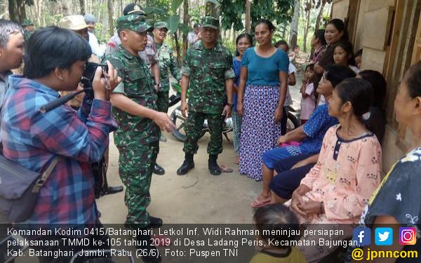 Dandim 0415 Tinjau Persiapan TMMD di Desa Ladang Peris - JPNN.com