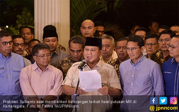 Gugatan Ditolak, Prabowo Kecewa, tetapi Tetap Hormati Keputusan MK - JPNN.com
