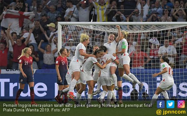 Inggris jadi Tim Pertama Tembus Semifinal Piala Dunia Wanita 2019 - JPNN.com