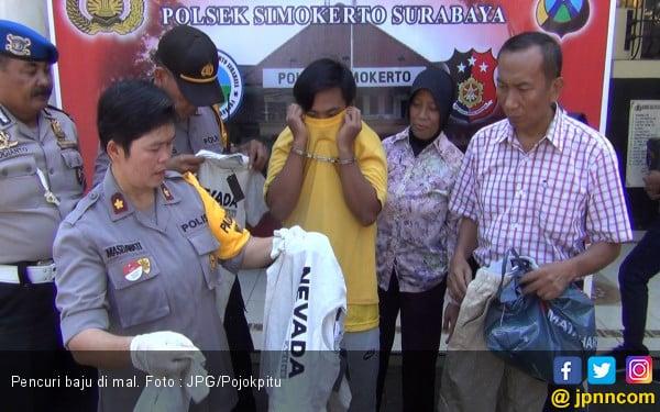 Pengin Bergaya, Pengamen Curi Baju Bermerek di Mal - JPNN.com