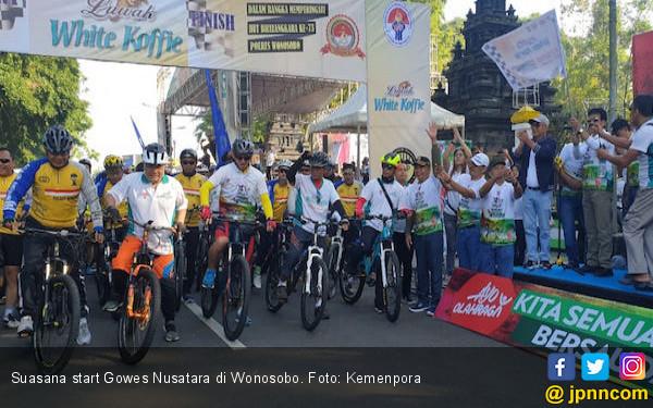 Peserta Gowes Nusantara 2019 di Wonosobo Membeludak - JPNN.com
