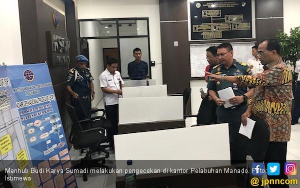 Menhub Sidak Pelabuhan Manado - JPNN.com