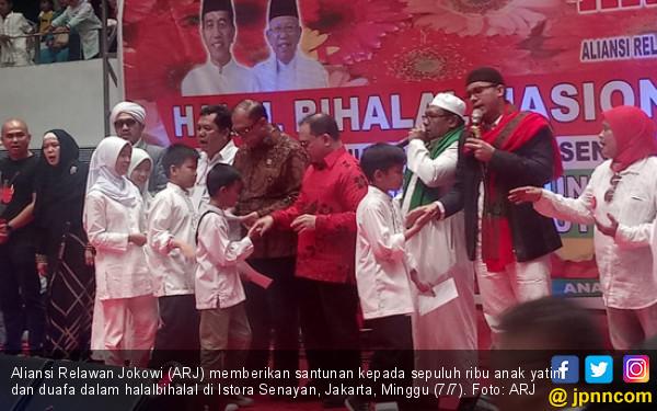 Santuni 10 Ribu Anak Yatim dan Duafa, ARJ Bakal Kawal Program Jokowi - JPNN.com