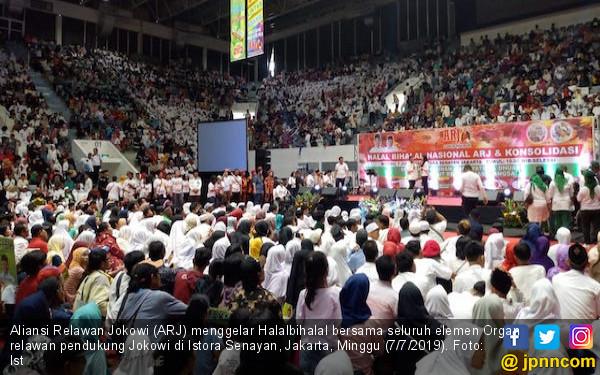 Aliansi Relawan Jokowi Gelar Halalbihalal dan Santuni 10 Ribu Anak Yatim - JPNN.com