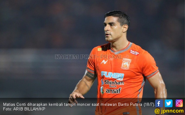 Borneo FC vs Barito Putera: Berharap Matias Conti Moncer Lagi - JPNN.com