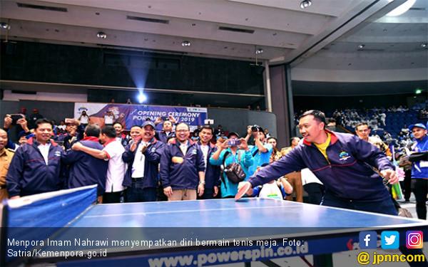 Menpora Buka Porpamnas VI di Bandung, Sempat Main Tenis Meja Bareng Wagub Jabar - JPNN.com