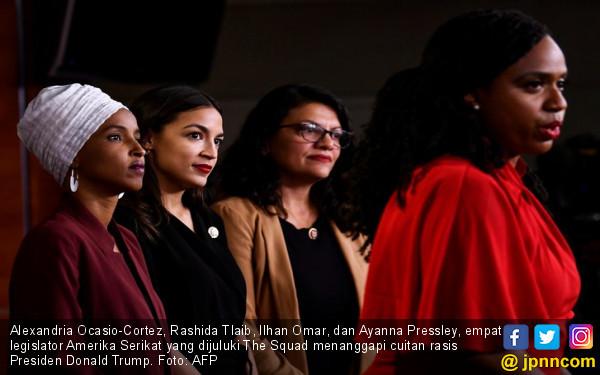 The Squad: Donald Trump Pemimpin Lemah - JPNN.com