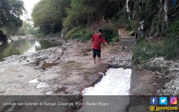 Sungai Cileungsi Tercemar Limbah, Ombudsman: DLH Kabupaten Bogor Tidak Berkompeten - JPNN.com
