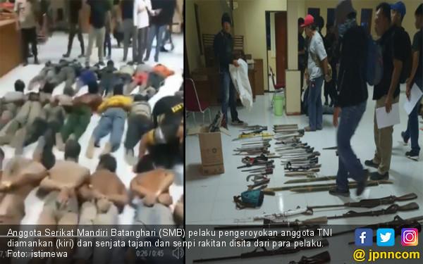 Keroyok Anggota TNI, 45 Orang Diciduk, 20 Resmi Jadi Tersangka - JPNN.com