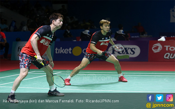 Ini Penyebab Minions Sempat Ribut Sama Tiang Listrik di Semifinal Blibli Indonesia Open 2019 - JPNN.com