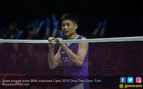 Blibli Indonesia Open 2019: Chou Tien Chen pun Menangis - JPNN.com
