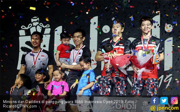 Blibli Indonesia Open 2019: Minions Dapat Rp 1,2 Miliar, Daddies 609 Juta - JPNN.com