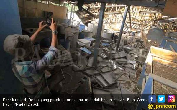 Pabrik Tahu yang Meledak di Depok Belum Berizin - JPNN.com