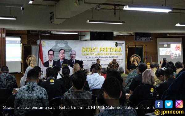 Debat Pertama: 3 Calon Ketum Baru Sepakat Bawa ILUNI UI Netral dari Politik - JPNN.com