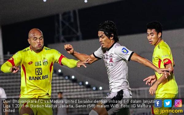 Madura United Paksa Bhayangkara FC Bermain Imbang 1-1 - JPNN.com