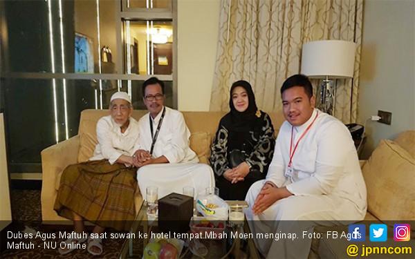 Mbah Moen: Kang Maftuh, Sampean Tamu Saya yang Terakhir - JPNN.com