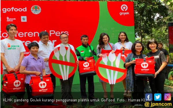 KLHK dan Gojek Kolaborasi Pengurangan Sampah Plastik, Begini Caranya - JPNN.com