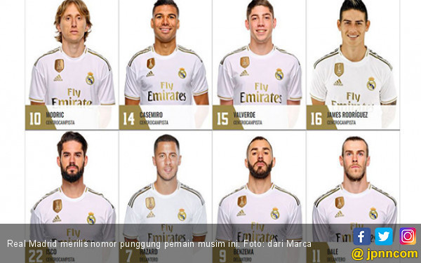 Eden Hazard Nomor Punggung 7, James Rodriguez 16 - JPNN.com