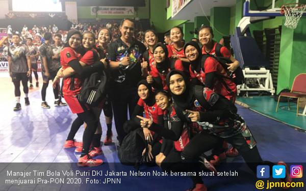 Nelson Noak, Aktor di Balik Sukses Tim Voli Putri Jakarta Juara Pra-PON 2020 - JPNN.com