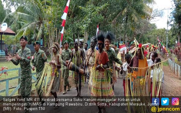 Gelar Kirab Keliling Kampung Rawabiru untuk Memperingati HIMAS - JPNN.com