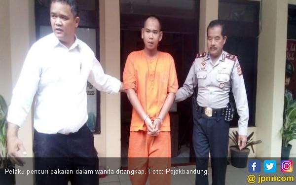 Pria di Bandung Mencuri Pakaian dalam Wanita untuk Fantasi Seks - JPNN.com