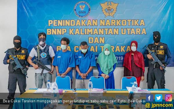 Bea Cukai Tarakan Gagalkan Penyelundupan 12 Galon Sabu-sabu Cair - JPNN.com