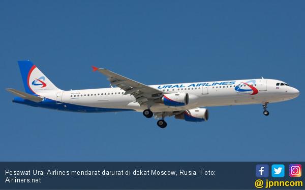 Pesawat Rusia Mendarat Darurat di Ladang Jagung, Puluhan Penumpang Terluka - JPNN.com
