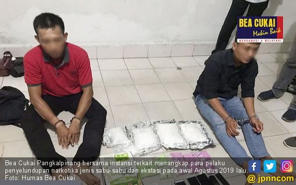 Bea Cukai Pangkalpinang Menggagalkan Penyelundupan 3,6 Sabu-sabu dan 5.000 Butir Esktasi - JPNN.com