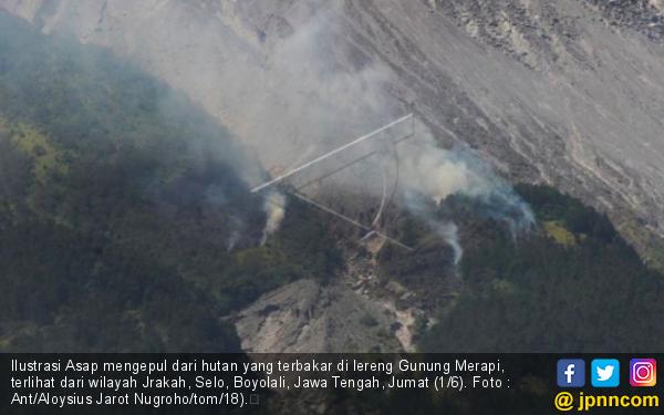 Hutan Lereng Merapi Terbakar, Tak Jelas Penyebabnya - JPNN.com