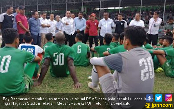 Cara Edy Rahmayadi Memotivasi Para Pemain PSMS Medan - JPNN.com