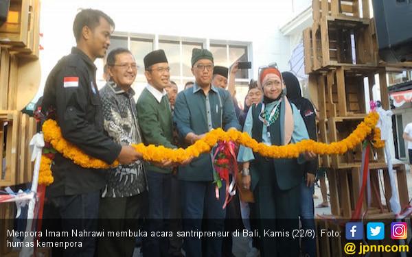 Menpora Imam Nahrawi Buka Santripreneur Lintas Agama di Bali - JPNN.com