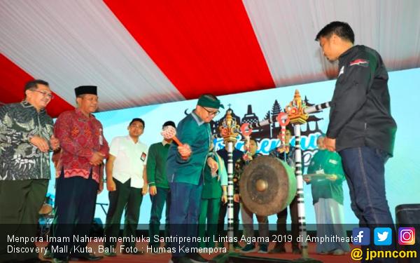 Santripreneur Lintas Agama 2019, Menpora Harap Santri Indonesia Warnai Pasar Dunia - JPNN.com