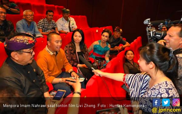 Kenalkan Keindahan Seni Bali, Menpora Ajak Ratusan Pemuda Nobar Film Livi Zheng - JPNN.com