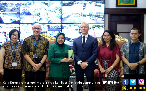 Surabaya Raih Predikat Best City dari EF EPI Best Awards - JPNN.com