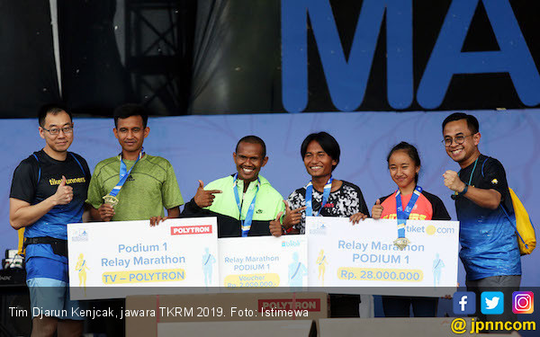 Djarun Kenjcak Jadi Jawara Kudus Relay Marathon 2019 - JPNN.com
