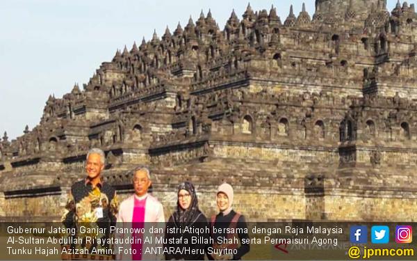 Raja Malaysia Kagumi Arsitektur Candi Borobudur - JPNN.com