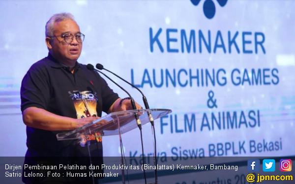 Kemnaker Launching Film dan Games Animasi Karya Siswa BBPLK Bekasi - JPNN.com