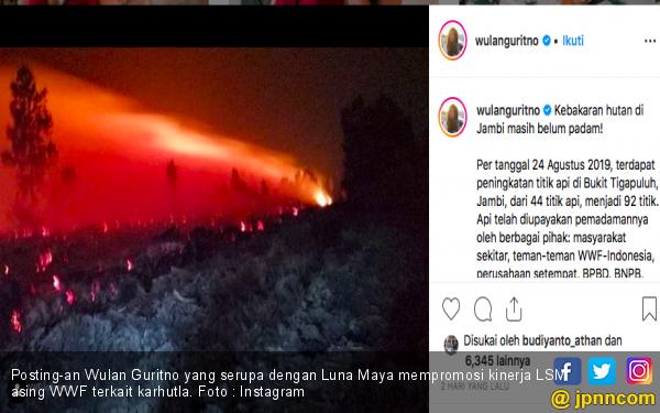 Semoga Luna Maya Cs Sadar, Manggala Agni dan Satgas yang Kerja Keras bukan WWF - JPNN.com
