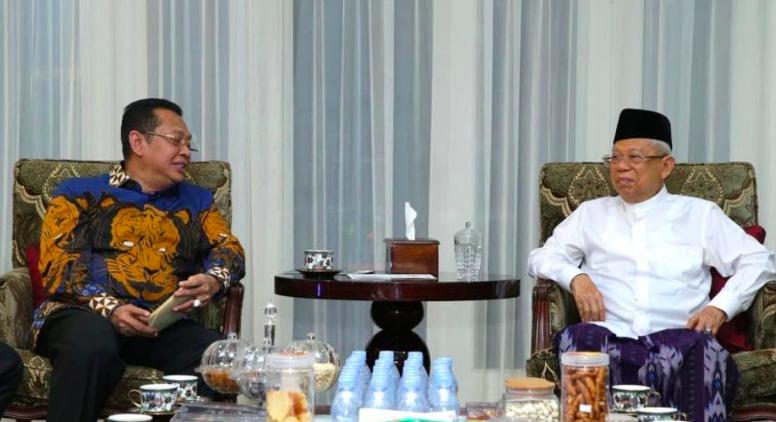 Temui KH Ma'ruf Amin, MPR RI Siap Gelar Pelantikan Presiden dan Wakil Presiden