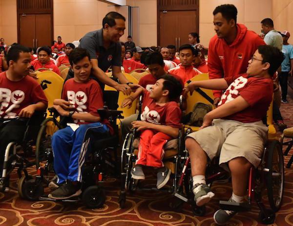 Menpora Bersilaturahmi dengan Atlet Pelatnas Asean Para Games 2020 - JPNN.com