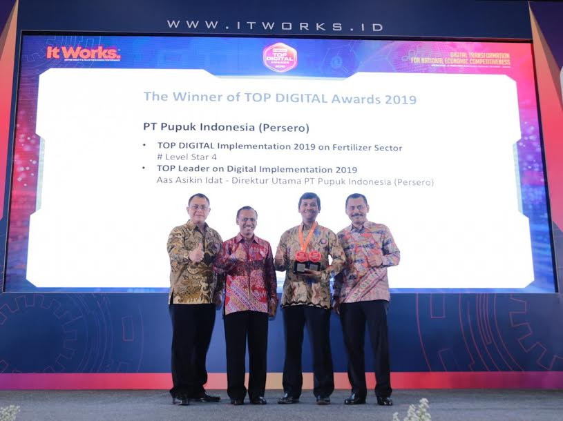 Pupuk Indonesia Raih TOP Digital Award 2019