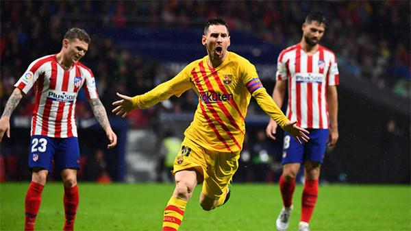 Lihat Gol Messi yang jadi Pembeda Duel Atletico Vs Barcelona - JPNN.com