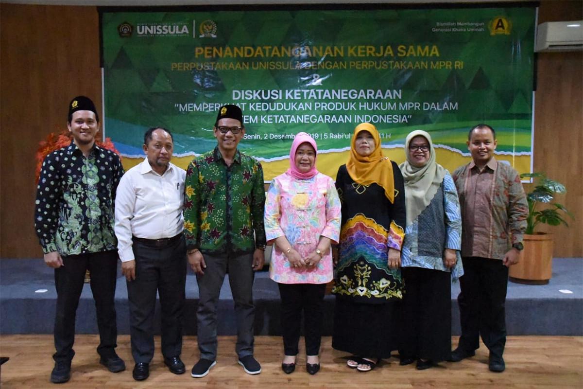 MPR RI dan Unissula Semarang Jalin Kerja Sama Bidang Perpustakaan
