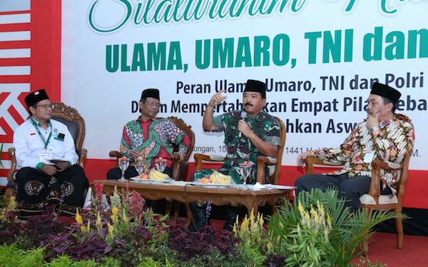 Pesan Marsekal Hadi Saat Acara Silaturahmi Nasional Ulama, Umaro, TNI dan Polri - JPNN.com