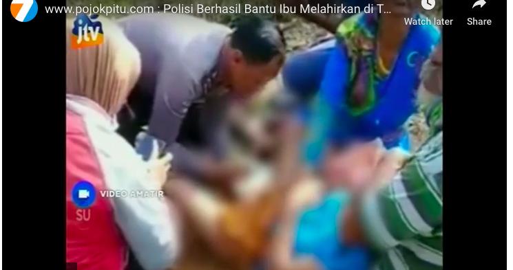 Viral! Aksi Heroik Ipda Handoko Bantu Persalinan di Tengah Hutan - JPNN.com