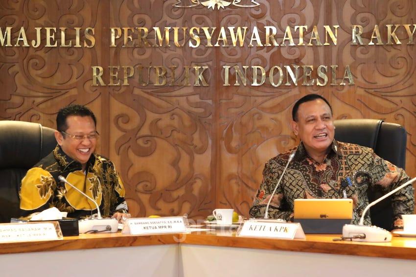 Temui Pimpinan MPR, Ketua KPK Mengaku Tak Bisa Sendirian Berantas Korupsi - JPNN.com