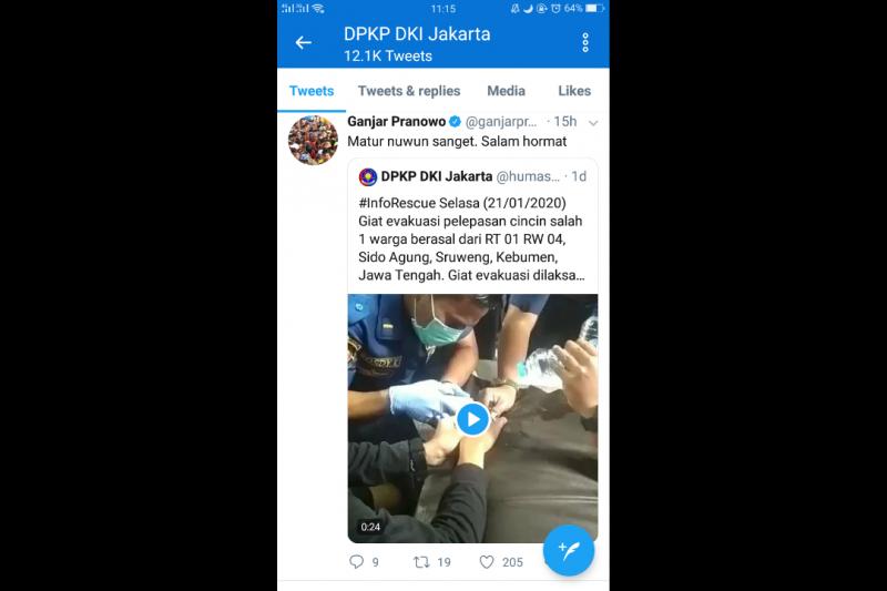 Ganjar Pranowo Ucapkan Terima Kasih kepada Anak Buah Anies Baswedan - JPNN.com