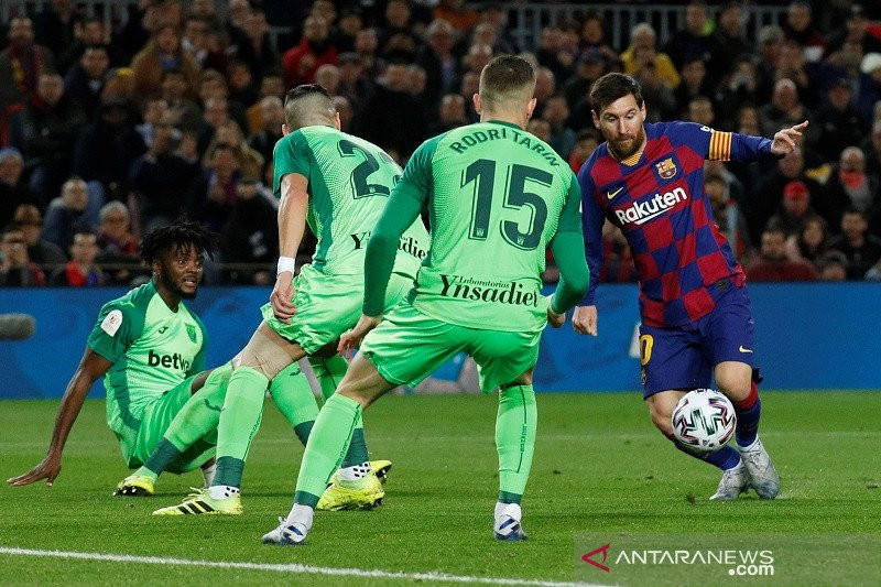 Messi Cetak Dua Gol, Barcelona ke Perempat Final Copa del Rey - JPNN.com